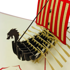 Viking Ship - WOW 3D Pop Up Card