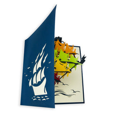 Ocean Ship - WOW 3D Pop Up Card