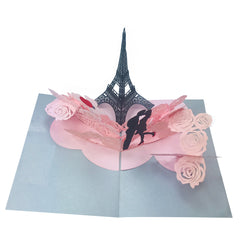 Love in Paris - WOW 3D 2 Layers Message Pop Up Card