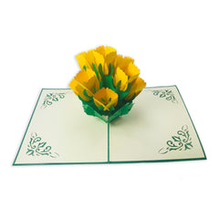Yellow Tulip - WOW 3D Pop Up Card
