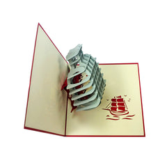 Ship in a Bottle - WOW 3D Pop Up Greeting Card