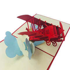 Red Airplane - WOW 3D Pop Up Card