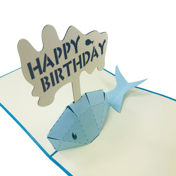 Whale Birthday - WOW 3D Pop Up Card