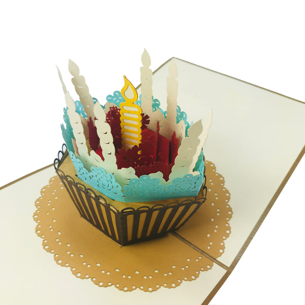 Birthday Cupcake - WOW 3D Pop Up Card