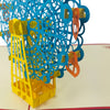 Ferris Wheel Blue Orange - WOW 3D Pop Up Card