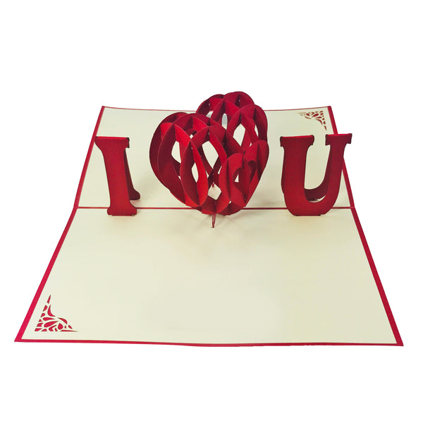 I Heart You - WOW 3D Pop Up Card