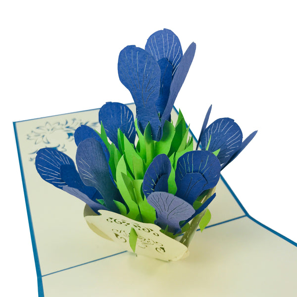 Iris Flower Vase - WOW 3D Pop Up Card