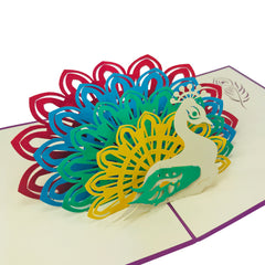 Peacock - WOW 3D Pop Up Card