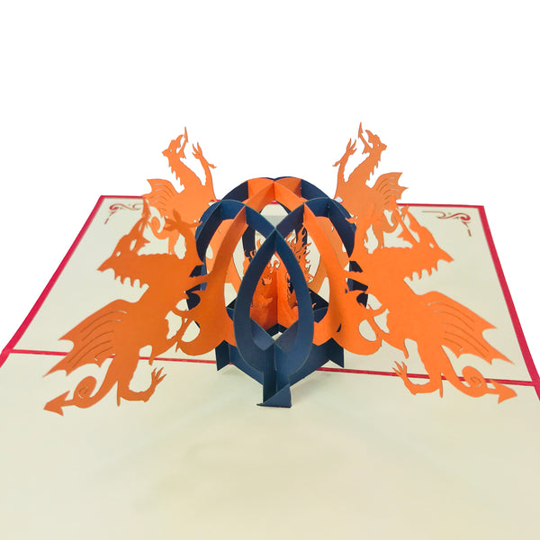 Wales Dragon - WOW 3D Pop Up Card