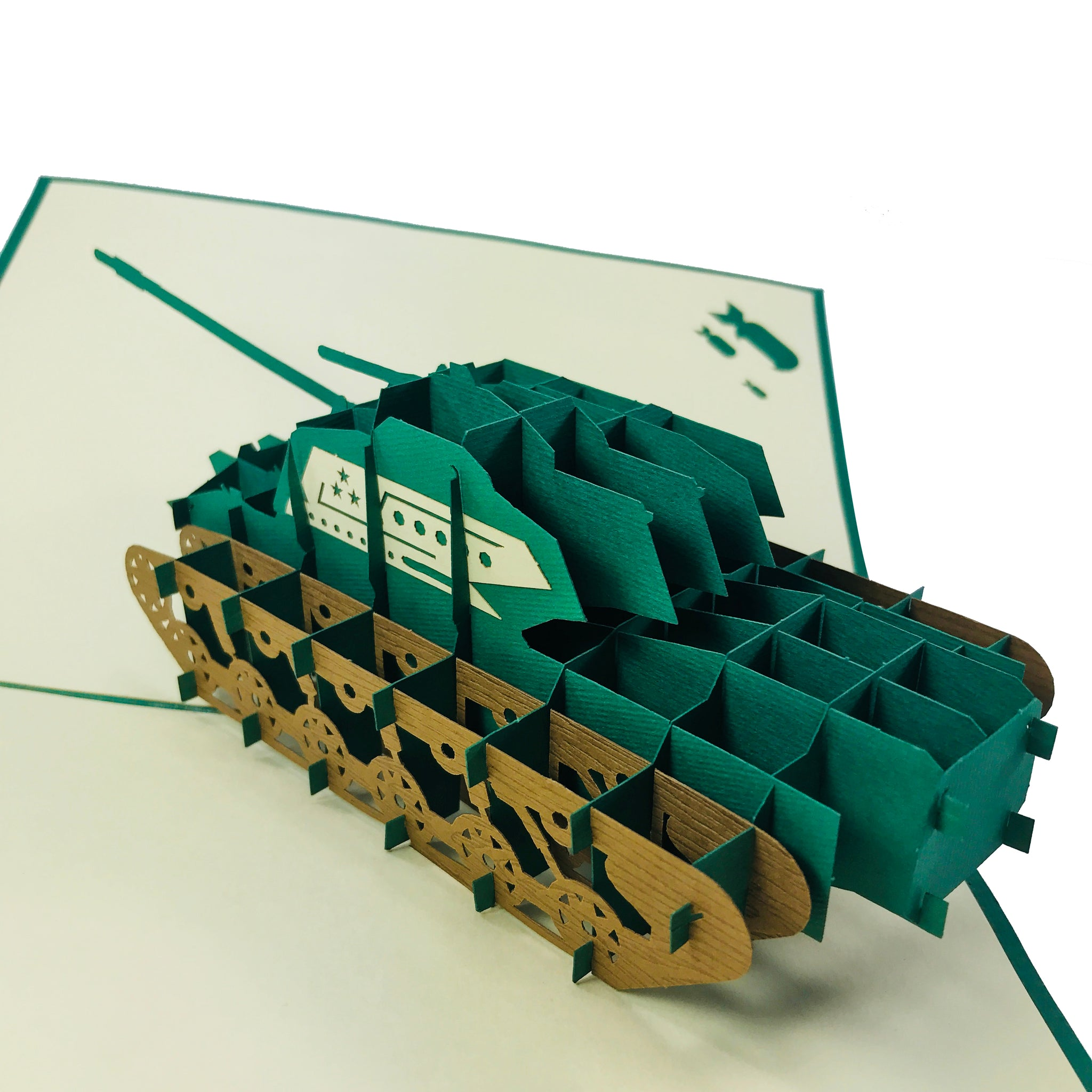 Tank - WOW 3D Pop Up Card