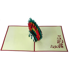 Christmas Flower Ring - Pop Up Card