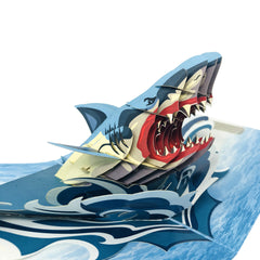 Angry Shark - WOW 3D Color Pop Up Card