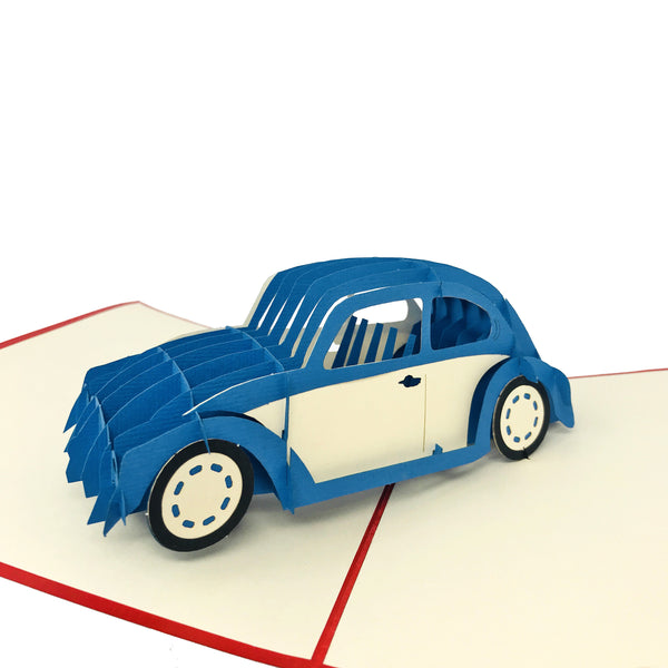 Blue Classic Car - WOW Pop Up Card