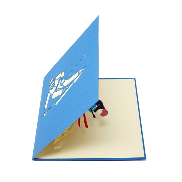 Skiing - WOW 3D Pop Up Greeting Card