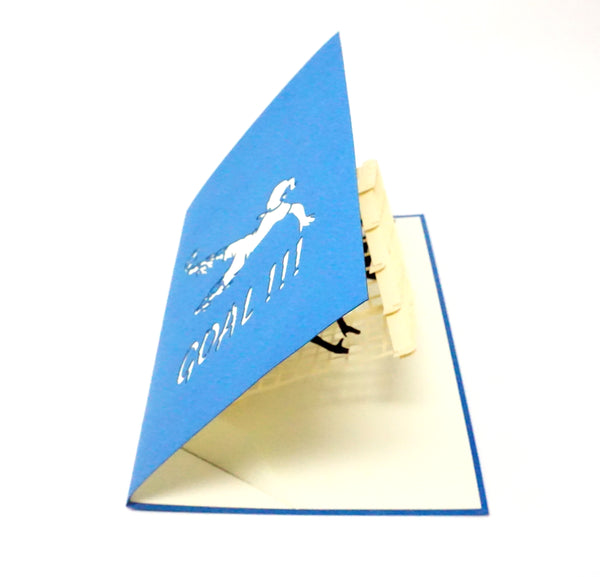 Female Soccer Player - WOW 3D Pop Up Greeting Card