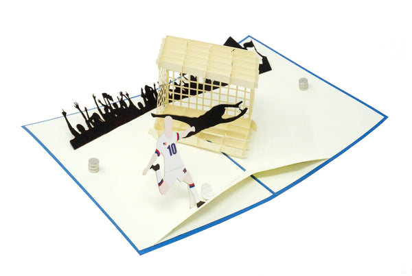 Soccer Player - WOW 3D Pop Up Greeting Card