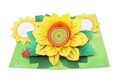 Shine bright like sunflowers - 3D Pop Up Card