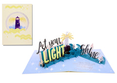 Let Your Light Shine - 3D Pop Up Card