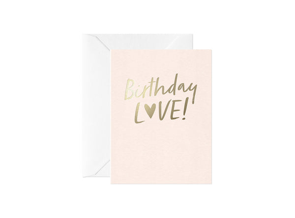 Birthday Love, Happy Thoughts Card