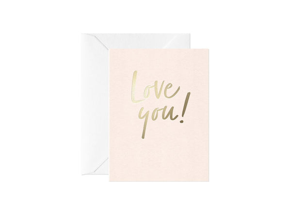 Love You, Happy Thoughts Card