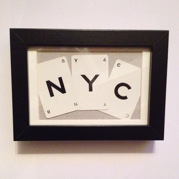 NYC Vintage Playing Cards Wall Art by Ivy Joan