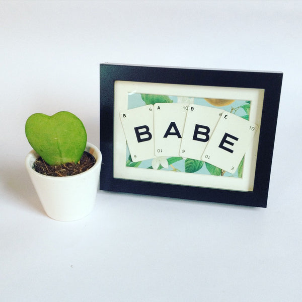 Babe Framed Vintage Playing Card Frame By Ivy Joan