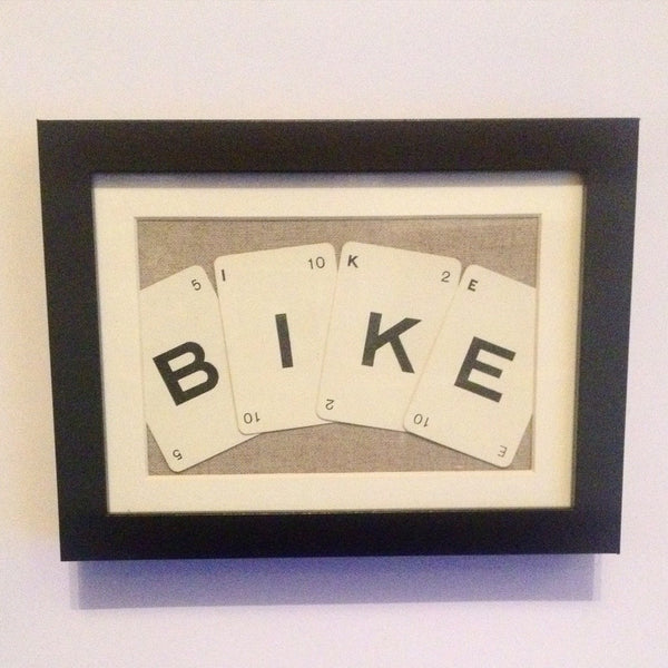 Bike Vintage Playing Cards Wall Art by Ivy Joan
