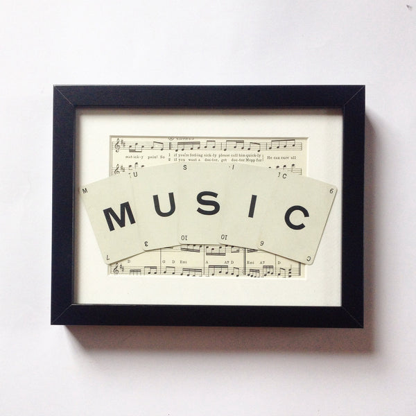 Music Vintage Playing Card Frame by Ivy Joan