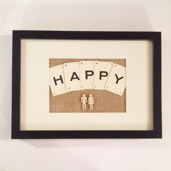 The Happy Couple Vintage Playing Cards Wall Art by Ivy Joan