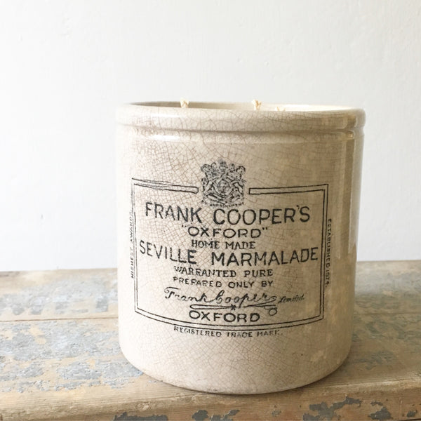 Extra Large Frank Cooper Marmalade Jar Candle in Green Tomato Leaf