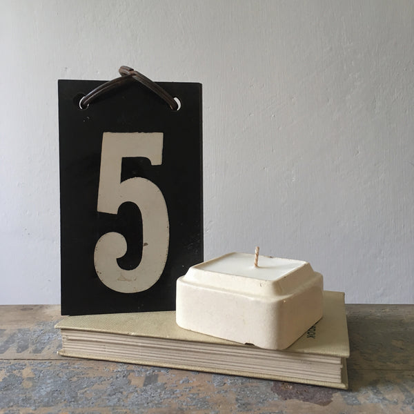Square Vintage Paste Pot Candle in Wild Fig
