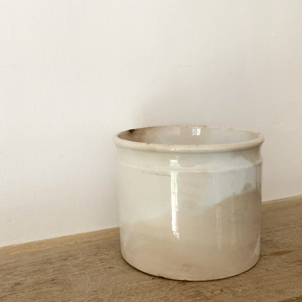 Vintage French Shallow Storage Jar