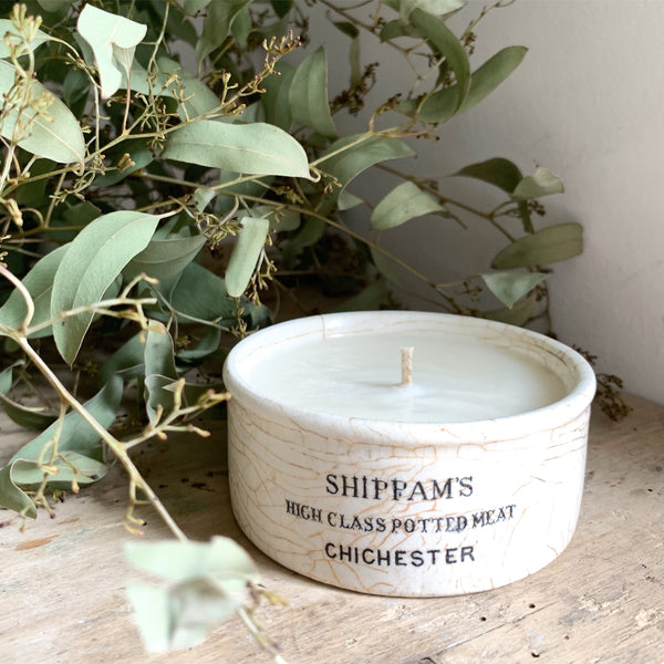 Shippams Pot Candle in Lavender & Sea Salt