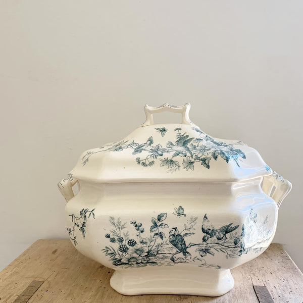 Vintage Birds & Bloom Tureen