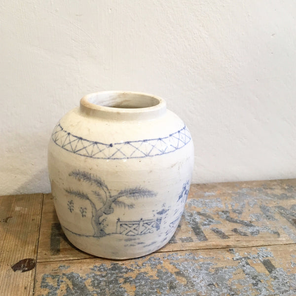 Blue & White Vintage Ginger Jar