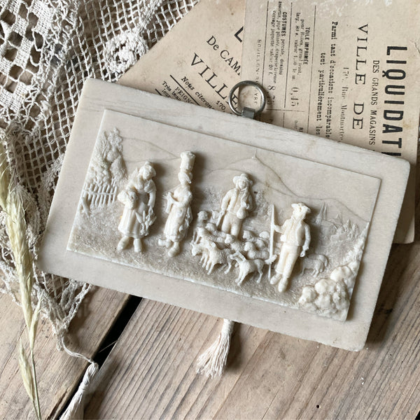 French Rural Life Wall Plaque