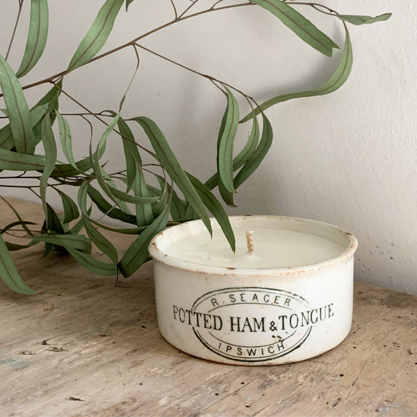Vintage Seager Pot Candle in Green Tomato Leaf
