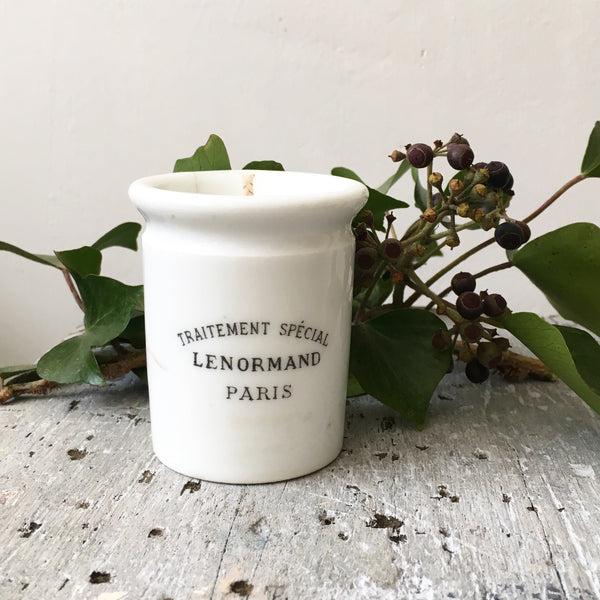 Vintage Lenormand Chemist Pot Candle in Earl Grey & Cucumber