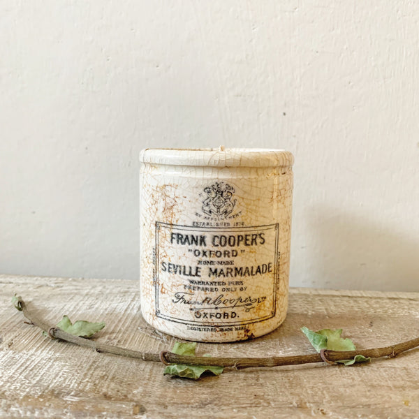 Small Frank Cooper Marmalade Jar Candle in Earl Grey & Cucumber