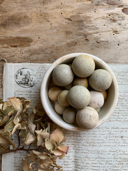 Collection of Antique Clay Marbles (Small and Large)