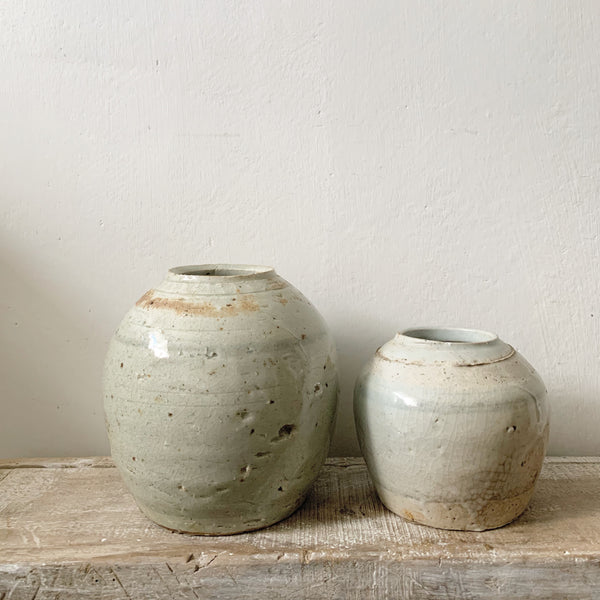 Light Blue Vintage Ginger Jars