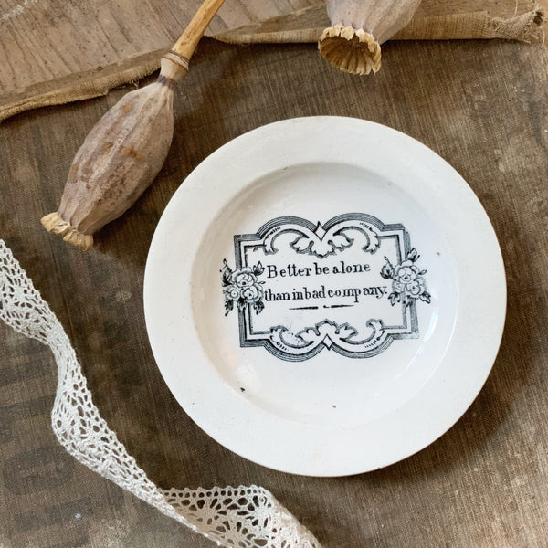 Vintage Victorian Quote Dish