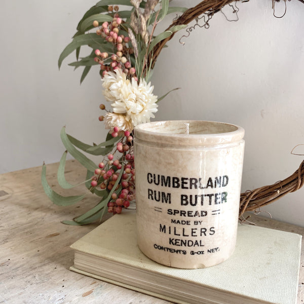 Vintage Butter Pot Candle in Wild Fig