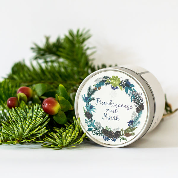 Frankincense & Myrrh Soy Wax Christmas Candle