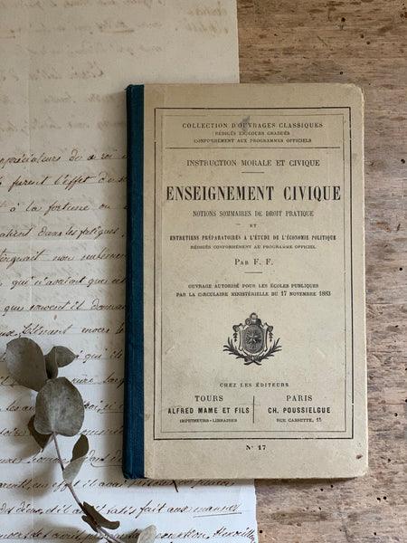 1883 Enseignement Civique Book