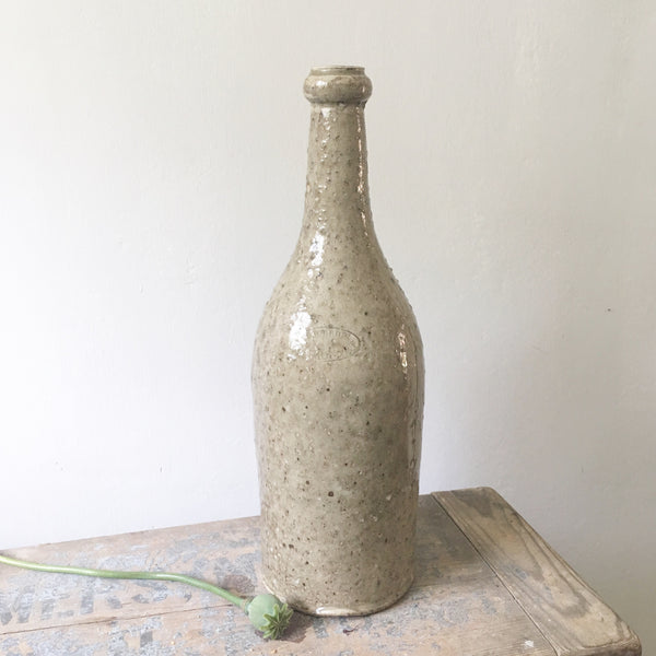 Large Stoneware Bottle with Amazing glaze