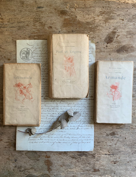 Vintage French Petite Collection Guillaume Books