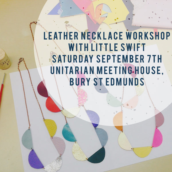 Leather Necklace Workshop with Little Swift