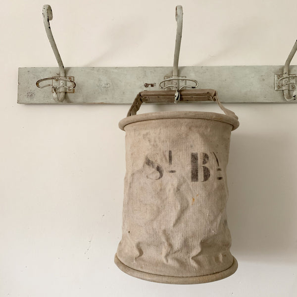 French Vintage Canvas Water Bucket