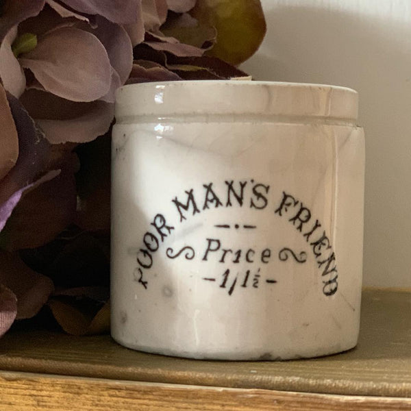 Poor Mans Friend Salve Pot Candle in Green Tomato Leaf